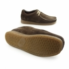 Base London GENESIS Mens Suede Leather Moccasin Shoes Brown