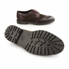 Base London CONFLICT Mens Leather Brogue Shoes Bordeaux/Brown