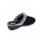 Cotswold NORTHLEACH Ladies Wedge Mule Slippers Black