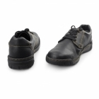 Rieker B0300-00 Mens Leather Lace-Up Extra Wide Shoes Black