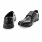 Rieker 15262-01 Mens Leather Touch Fasten Shoes Black