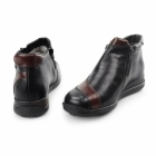 Rieker 44273-00 TEX Ladies Leather Warm Lined Boots Black/Red