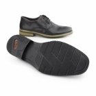 Rieker 10822-01 Mens Leather Lace Up Derby Shoes Black