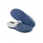 Mirak DIEPPE Ladies Faux Fur Paisley Mule Slippers Blue