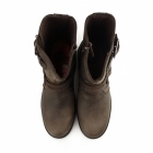 Harley Davidson ABNER Mens Leather Zip Harness Boots Brown