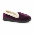 Fluffys JUSTINE Ladies Memory Foam Full Slippers Lilac