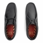 Base London LEGACY PULL UP Mens Leather Moccasin Casual Shoes Black