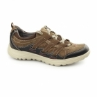 Earth Spirit RICO Ladies Lace Up Suede Walking Trainers Brown