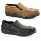 Hush Puppies VICAR VICTORY Mens Leather Moccasin Loafers Tan