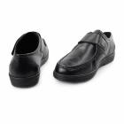 Dr Keller KEVIN Mens Leather Touch Fasten Shoes Black