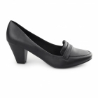 Comfort Plus SELMA Ladies Wide Fit Heeled Loafer Shoes Black