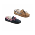 Cotswold KILKENNY Ladies Suede Moccasin Slippers Tan