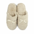 Fluffys COCO Ladies Faux Fur Sequin Mule Slippers Beige