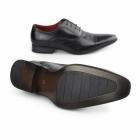 Giovanni MARTINEZ Mens Chisel Toe Lace-Up Oxford Shoes Black