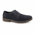Rieker 13810-14 Mens Suede Wide Fit Lace-Up Derby Shoes Navy