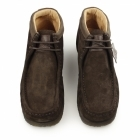 Hush Puppies DAVENPORT HIGH Mens Suede Boots Chocolate