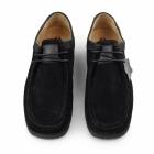 Hush Puppies DAVENPORT LOW Mens Suede Shoes Black