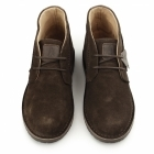 Hush Puppies CURTIS Mens Suede Desert Boots Chocolate