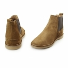 Hush Puppies SELBY Mens Suede Chelsea Desert Boots Tan
