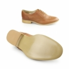Boulevard EVA Ladies Flat Brogue Shoes Burnish Tan
