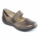 Padders POEM Ladies Extra Wide Plus Fit Mary Jane Shoes Bronze