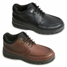 Padders CREST Mens Leather Extra Wide Waterproof Shoes Black
