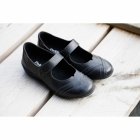Padders DWELL Ladies Leather Extra Wide Mary Jane Shoes Black