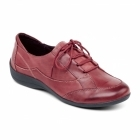 Padders GLADE Ladies Leather Extra Wide Lace Up Shoes Wine