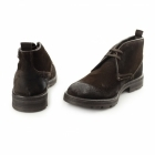 Base London ARCHER Mens Greasy Suede Chukka Boots Brown