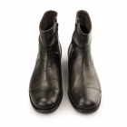 Base London KEYSTONE RUSTIC Mens Leather Zip Biker Boots Moss