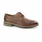 Rieker B1224-24 Mens Leather Lace Up Derby Shoes Brown