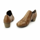 Rieker 41730-24 Ladies Leather Brogue Court Shoes Brown