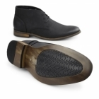 Goor TWAIN Mens Faux Leather Chukka Boots Black