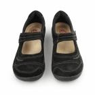 Earth Spirit LAWTON Ladies Nubuck Leather Mary Jane Shoes Black