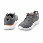 Skechers GORUN 400 Mens Sport Lace Up Trainers Charcoal/Orange