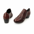 Rieker 41730-35 Ladies Leather Brogue Court Shoes Red