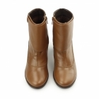Hush Puppies WILLOW BROOK Ladies Leather Zip Ankle Boots Tan