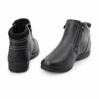Dr Keller ANNIE Ladies Warm Lined Dual Zip Ankle Boots Black