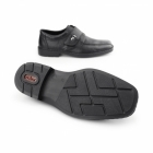 Rieker 18853-00 Mens Leather Wide Touch Fasten Shoes Black