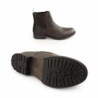Jack & Jones SIMON Mens Waxy Leather Chelsea Boots Brown Stone