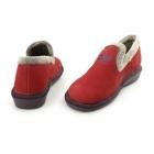 Nordikas 305 (AFELPADO) Ladies Suede Full Slipper Red