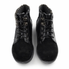 Earth Spirit MOBILE Ladies Suede/Leather Lace Zip Ankle Boots Black
