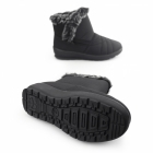 Dr Keller THUNDER Ladies Warm Lined Zip Winter Boots Black