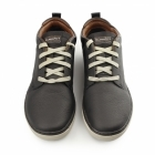 Skechers RELAXED FIT: PALEN-NIETO Mens Leather Trainers Black