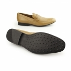 Kickers RANLYN SLIP Mens Leather Slip On Loafers Tan