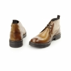 Base London ARCHER Mens Washed Leather Chukka Boots Tan