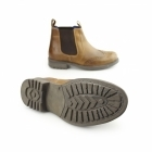 Catesby Shoemakers CAVALIER Mens Waxy Leather Brogue Chelsea Boots Tan