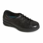 Padders KAREN Ladies Leather Super Wide Plus Trainers Black