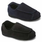 Padders PETER Mens Touch Fasten Extra Wide Plus Full Slippers Navy
