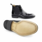 John White CHELSEA Mens Polished Leather Welted Sole Boots Black